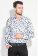 Рубашка мужская светлый принт 3220-4 бело-грифельный