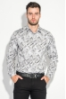 Рубашка мужская светлый принт 3220-4 серо-грифельный