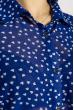 Блуза женская с принтом сердце 108P036 индиго