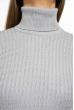 Гольф женский однотонный 613F001 светло-серый