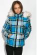 Куртка женская в клетку 120PLI9030 сине-голубой
