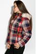 Куртка женская в клетку 120PLI9030 темно-синий / персиковый