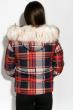 Куртка женская в клетку 120PLI9030 красно-синий