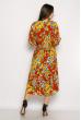 Платье в цветочек 632F013-3 кирпичный