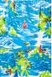 Шорты мужские пляжные принт морской 165V001-12 сине-салатовый