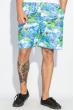 Шорты мужские пляжные принт морской 165V001-12 салатово-голубой