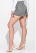 Шорты женские короткие, на резинке 64PD105-1 черно-серый , лапка