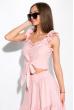 Кокетливый костюм (юбка и топ) 120PVC235 пудра