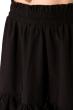 Кокетливый костюм (юбка и топ) 120PVC235 черный