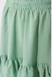 Кокетливый костюм (юбка и топ) 120PVC235 оливковый