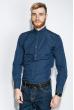 Рубашка мужская однотонная 333F007 синий