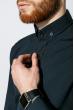Рубашка мужская однотонная 333F007 темно-синий