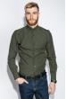 Рубашка мужская однотонная 333F007 хаки