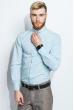 Рубашка мужская однотонная 333F007 голубой