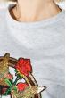 Костюм женский, юбка с кофтой 77PD837 серый меланж