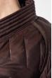Пальто женское на завязках 69PD1058 шоколадный