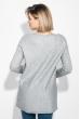 Туника женская приятная к телу, меланж 619K003-1 серый меланж