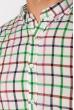 Рубашка в клетку 511F047 сиренево-зеленый