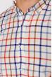 Рубашка в клетку 511F047 красно-синий
