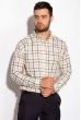 Рубашка в клетку 511F047 серо-бежевый