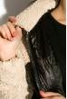 Куртка женская 120PSKL6118 черно-сизый