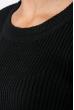 Свитер женский с круглым вырезом 212F058 черный