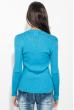 Свитер женский с круглым вырезом 212F058 голубой