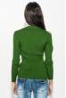 Свитер женский с круглым вырезом 212F058 зеленый