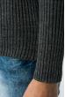 Свитер женский с круглым вырезом 212F058 серый