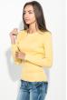 Свитер женский с круглым вырезом 212F058 желтый