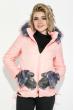 Куртка женская с вышитыми карманами 69PD987 персиковый