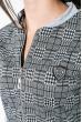 Костюм женский спортивный с узорами  77PD874 светло-серый , клетка