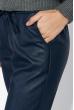 Брюки женские из экокожи, на резинке 64PD2231-4 темно-синий