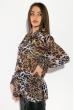 Рубашка женская, шифоновая  64PD3481-1 тигровый
