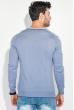 Пуловер мужской с полоской по ободку выреза 50PD301 серо-сиреневый