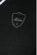 Пуловер мужской с полоской по ободку выреза 50PD301 черно-белый