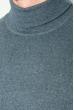 Гольф мужской однотонный 201F014 серо-сизый