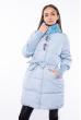 Куртка женская с воротником стойка 120PSKL6839 светло-голубой