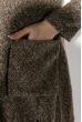 Кардиган женский, на пуговицах 64PD307 коричневый , петля