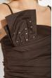 Платье женское вечернее со стразами 64PD16 черный / красный