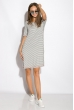 Платье 516F492 молочно-синий