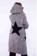 Женский кардиган Звезды 184P7051 серо-черный