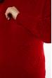 Вязаная женская туника 120PRZGR020  красный