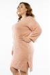 Вязаная женская туника 120PRZGR020  светло-розовый