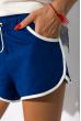 Женский костюм (футболка и шорты) 32P0047 молочный / электрик