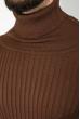 Свитер мужской однотонный 48P3239 шоколадный