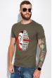 Мужская футболка 134P022 сериал Бумажный дом хаки