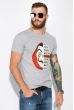 Мужская футболка 134P022 сериал Бумажный дом светло-серый