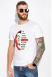 Мужская футболка 134P022 сериал Бумажный дом белый