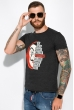 Мужская футболка 134P022 сериал Бумажный дом темно-серый